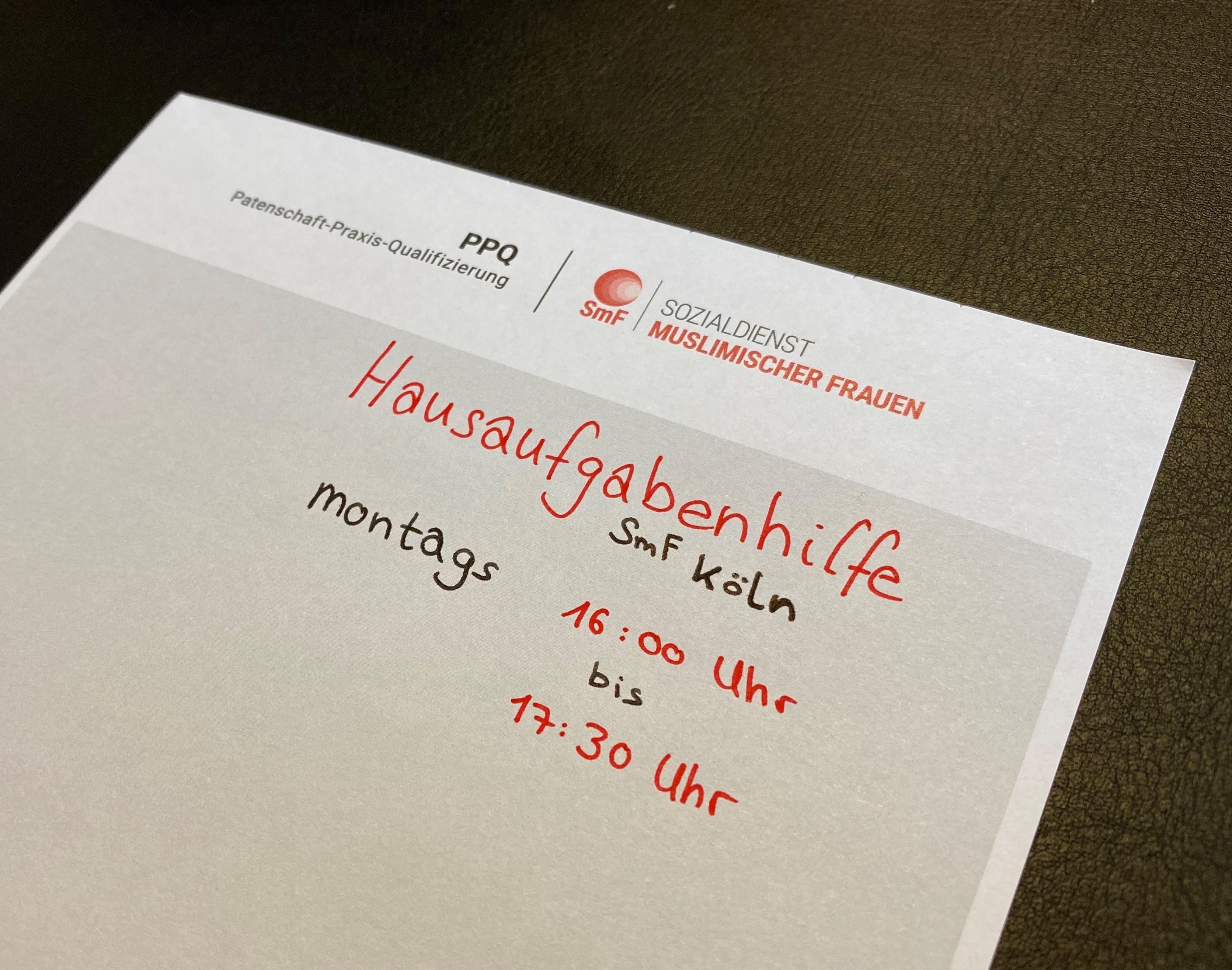 SmF Köln bietet Hausaufgabenhilfe an